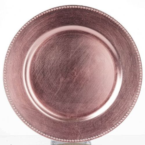 BEADED BLUSH Charger Plate / Underplates 33cm
